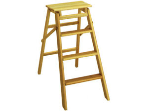 Salisiedi sgabello sedia legno gradini bianco scaletta