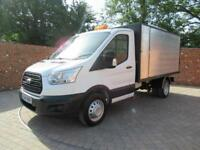 FORD TRANSIT 350 L2 MWB 1 WAY TIPPER 125 BHP NEW CHIPPER BOX TOOL BOX 3 SEATS