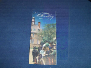 HISTORIC WILLIAMSBURG, VIRGINIA-1950/60S TOURIST BROCHURE