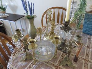 Vintage Jewellery Trays,Brass Candle holders,,Home Furniture