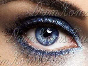 lentille de couleur bleue +porte lentille