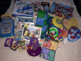Game bundle toys Pinball minons Starwars Spiderman one used Angry