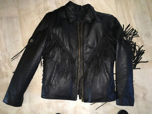 Ladies Fringed Motrocycle Jacket