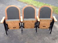 Fully Restored 1800's Antique Theater seats. Make Offer :)