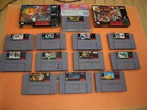 (14)  SUPER NINTENDO GAMES CARRIER ACES, ASP, NHL STANLEY CUP London Ontario image 1