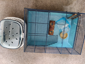 Hamster cage and carry case starter set