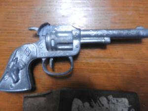 1950's Hubley Texas Steer Cap Gun and Pouch