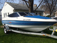 1992 Bayliner Capri 18' Bowider Boat and Trailer - Family Boat