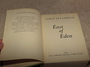 East of Eden John Steinbeck First Edition Third Printing Book London Ontario image 7