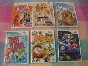 10 Cassettes de Jeux pour la Wii.