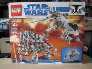 Lego set 10195 Star Wars Republic Dropship with AT-OT NEUF