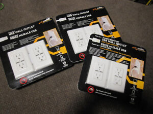 USB Wall Outlets - 2-Pack - new, sealed packs -- $22.00 each
