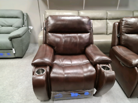 Brand new Genuine Leather Armchair power recliner with headrest