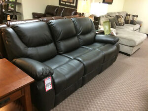 Like new black reclining couch