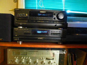Complete Stereo Technics Receiver and CD, Turntable, 4 Speakers