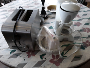 Toaster coffee maker and electric  mixer