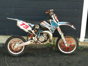 2011 Ktm 85 cc white and blue