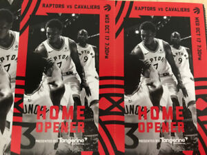 Raptors Home Opener - Two Tickets - Section 310