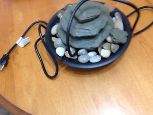 Stone fountain works well $20.00