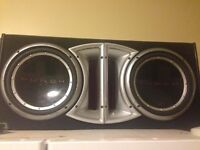 I have to 12 inch rockford fosgate subs 200 obo