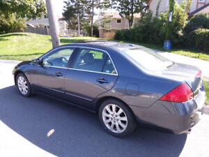 2007 HONDA ACCORD EX-L, 244 HP 3.0L V-TEC- LEATHER/SUNROOF/LOWKM