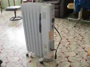 2 oil filled electric radiators for sale
