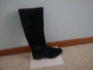 Black Suede Women's Boots