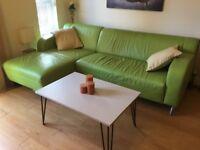 New Retro Hairpin Leg Coffee Table, Grey with Copper Leg, Mid Century, Urban