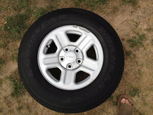 5 new  takeoff 2014 Jeep Wrangler rims and tires Kitchener / Waterloo Kitchener Area image 1