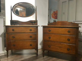 His & Hers Antique Chest of Drawers