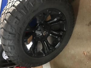 305/55/20 nitto Ridge grappler with 20x10 offset fuel vapours