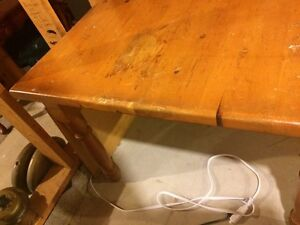 Solid PINE table...needs refinishing but will be beautiful with