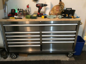 Stainless work bench cabinet