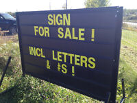 DISPLAY SIGN FOR SALE