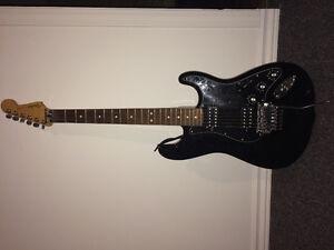 Guitare électrique, ampli et étuit