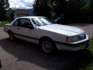 1987 Ford Thunderbird black Coupe (2 door)