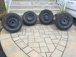 Michelin X- Ice 3 Winter Tires with 5 bolt Rims 205 65 16