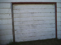 8 FT Roll up  over head metal garage door STILL AVAILABLE.