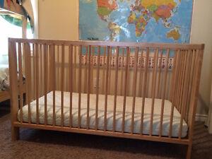 Ikea Gulliver Crib & Mattress