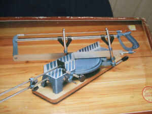 Vintage Miter Box with saw,