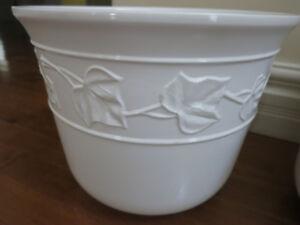 Two Porcelain Planters