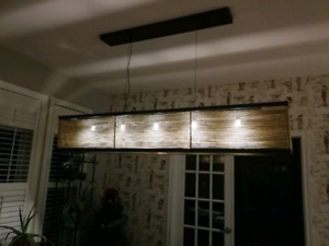 Vintage Rustic Style ceiling light w/ Lutron dimming LED lights