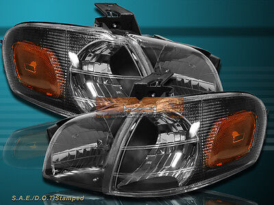 1997-2005 Chevy Venture 4 pcs Headlights + Corner Light Combo Black Housing