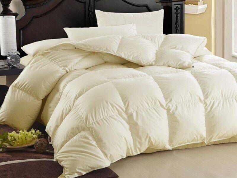 80% Daunen Natürliche Decke Bettdecke Oberbett - Ecru und Weiss