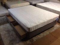 New Kingsize 2draw divan with mattress