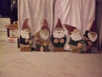 Wooden garden knomes 30.00 for all