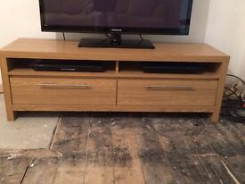 Next Oak effect finish TV stand