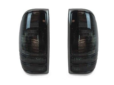 DEPO Pair of All Smoke Rear Tail Lights For 1998 2004 Dodge Dakota Pickup Truck