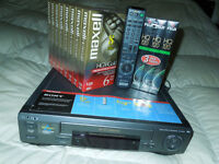 New SONY, HI-FI VCR PLAYER WITH TAPES AND REMOTE