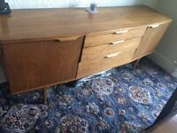 1970's Vintage Teak sideboard 3 draws and two cupboards with shelf in. £80 or nearest offer